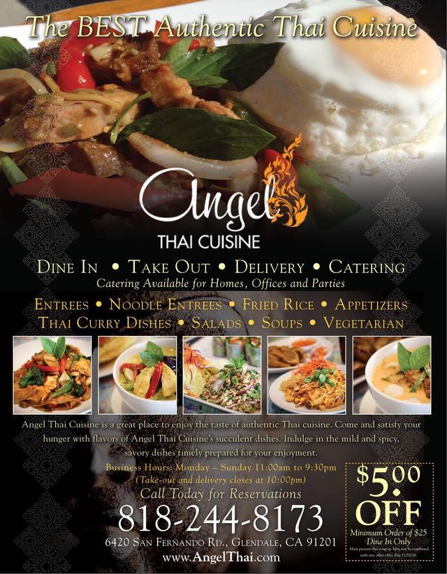 Angel thai cuisine our towns finest for Angel thai cuisine