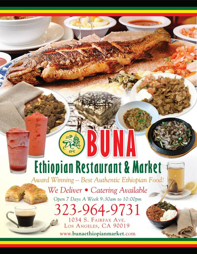 Buna Ethiopian Restaurant Our Towns Finest
