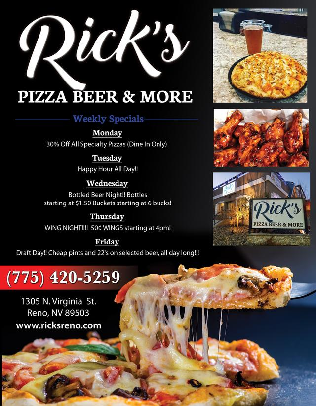 Rick's Pizza, Beer & More | Our Towns Finest